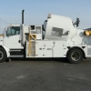 Camion pour enfilage de conduits souterrain