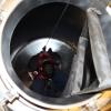 Exercice de simulation de sauvetage en espace clos
