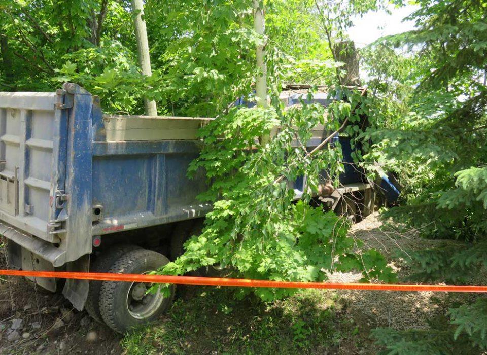 Décès d'un camionneur au service de Dany Dejardin dans le Canton de Hatley
